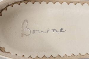 Bourne Leather Shoes Cream Size 41 with original box