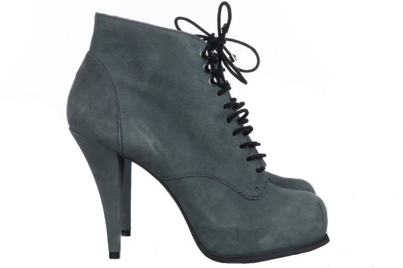 Suede Carvela grey/blue lace up ankle boots size 38