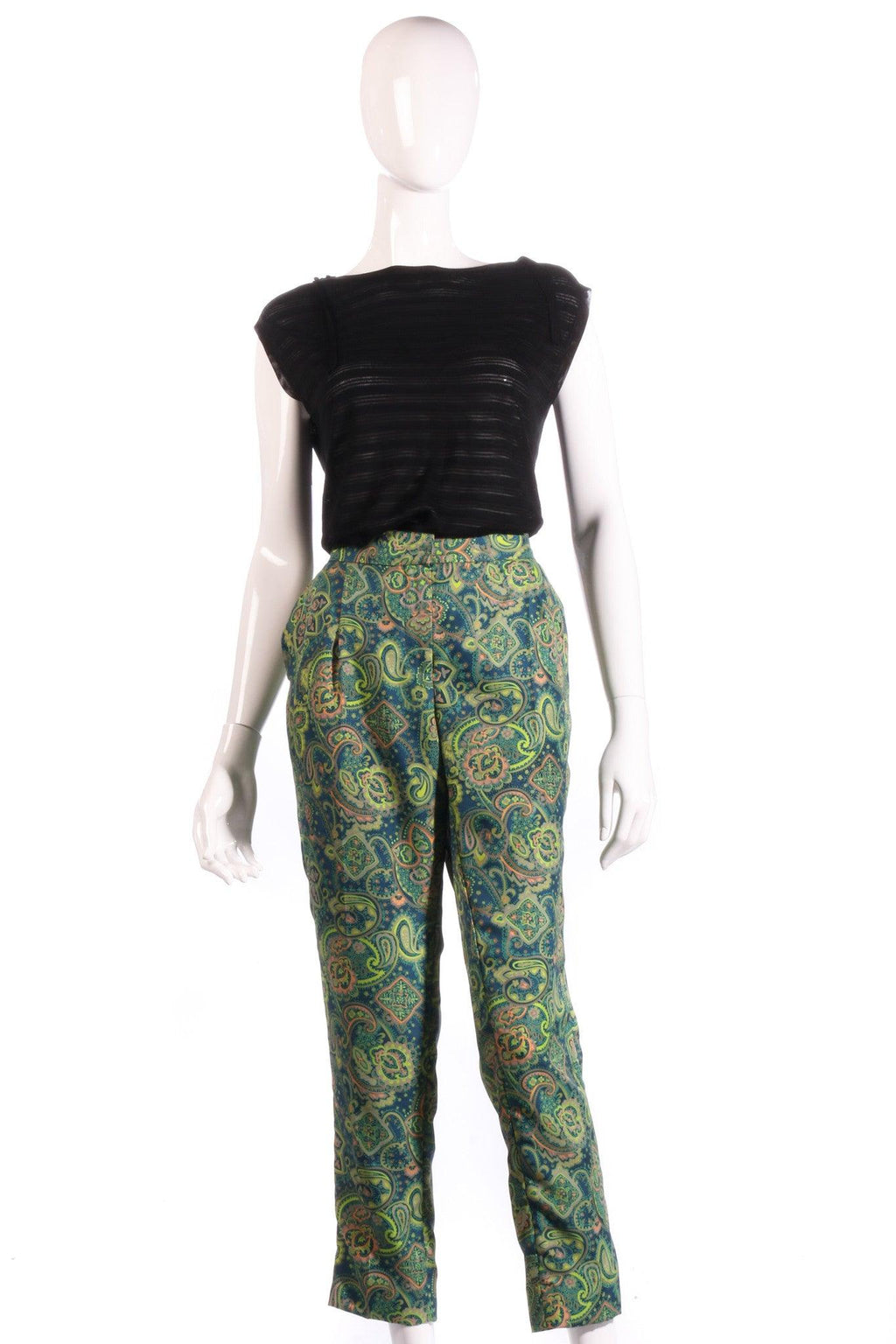Melene Birger green floral cropped trousers