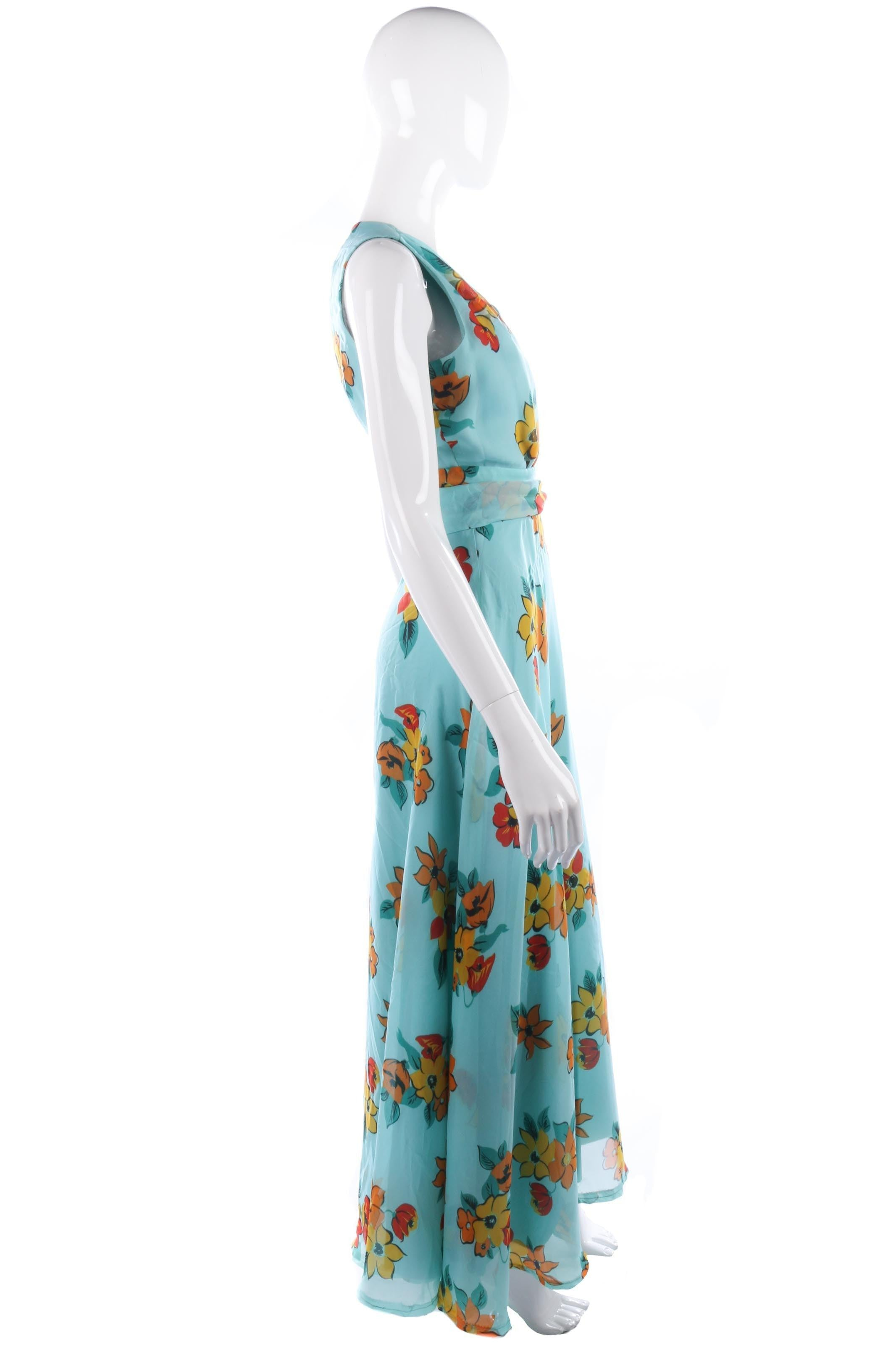 Vera Mont vintage turquoise floral summer evening gown – Ava & Iva