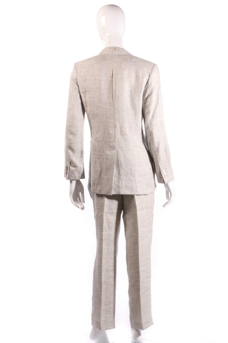 Max Mara grey suit back