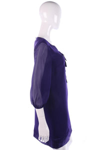 Lovely purple chiffon dress size 10