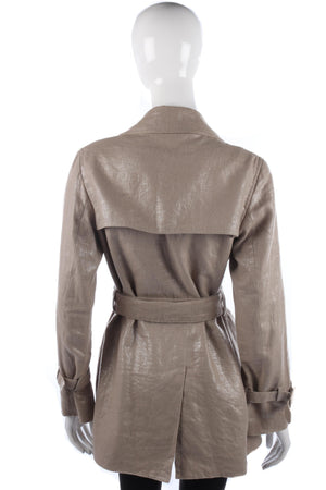 Lovely metallic silver and beige summer jacket size M