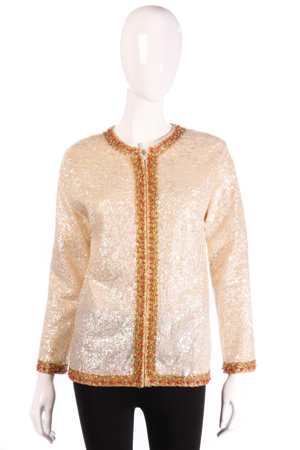 Hatais cream sequin jacket
