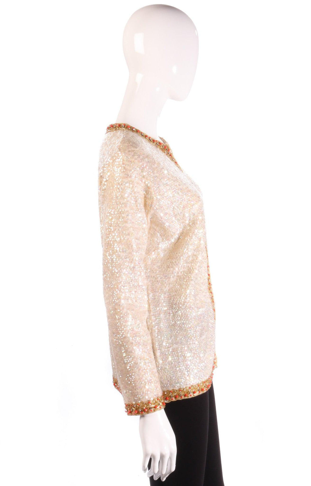 Hatais cream sequin jacket  side