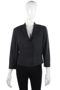 Armand Ventilo Jacket Wool Dark Grey with Silk Lining Size 14