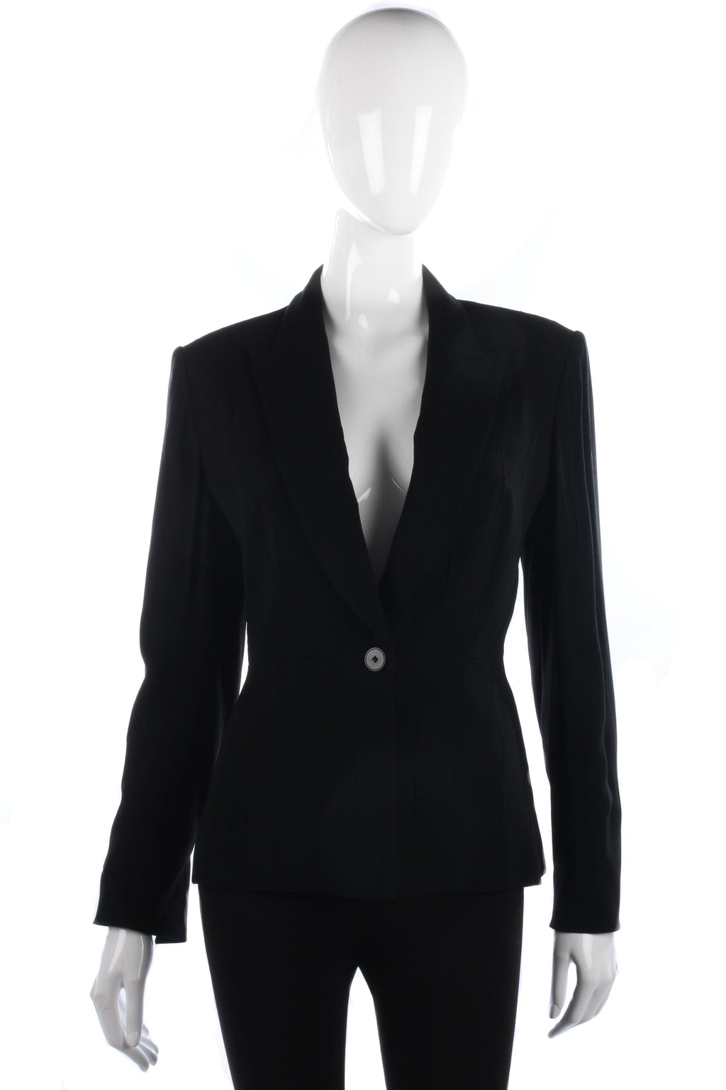 Amanda Marshall Jacket Black Size 10