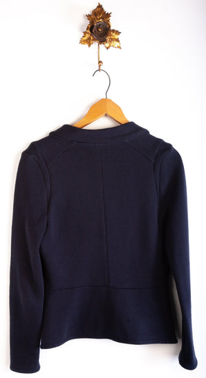 Whistles Cardigan 100% Cotton Dark Blue Size 12