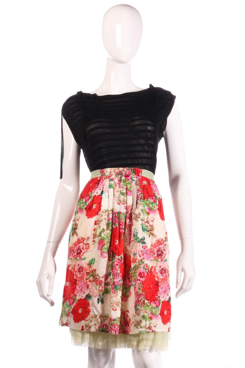 HJ Too pink floral skirt size M