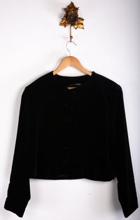 Laura Ashley Black Velvet Jacket Size 14