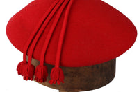 Red felt vintage Chapeaux (Made in England by Barnett) hat