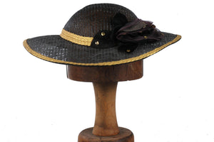 Vintage hat, black and gold