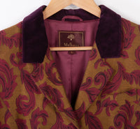 Mulberry Burgundy & Gold Jacket with Velvet Collar Size L