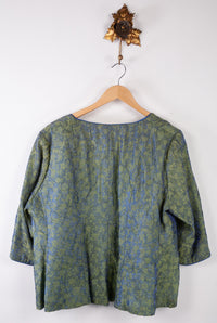 Wonderful Edge to Edge Vintage Green Jacket (O/S)