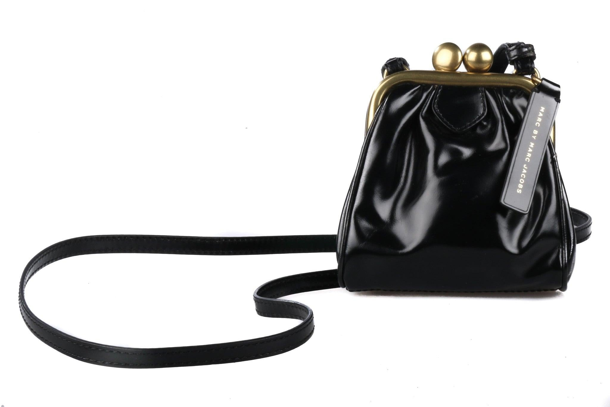 28142652f4 Lovely Marc Jacobs black leather purse/evening bag – Ava & Iva
