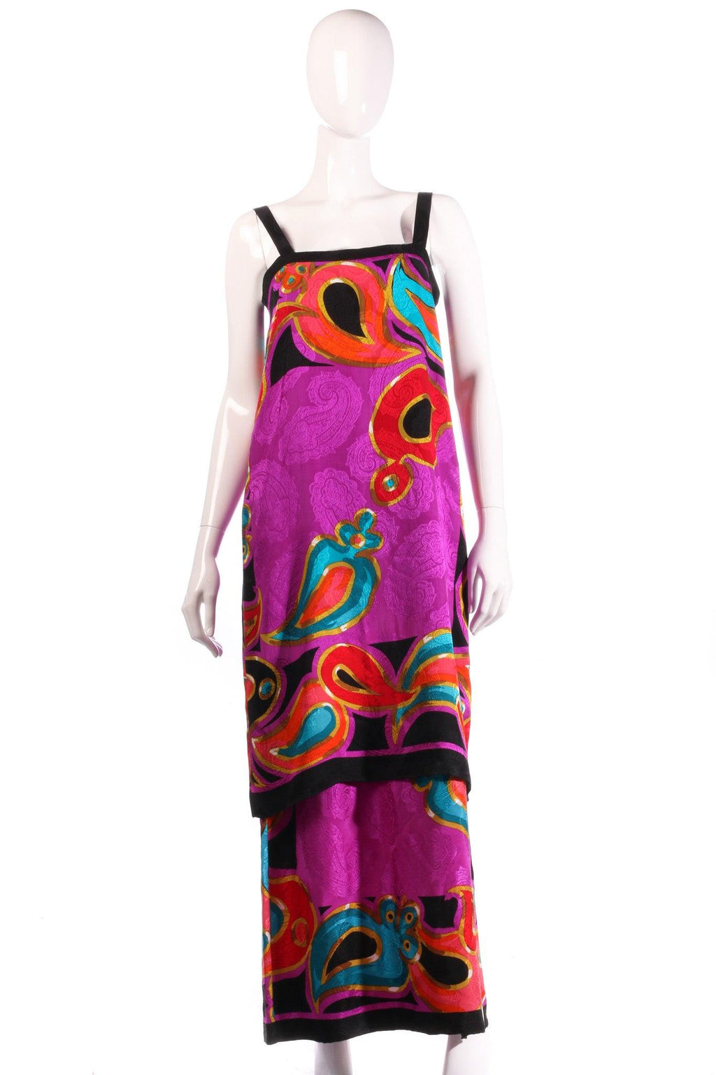 Brijo purple patterned dress, with additional top