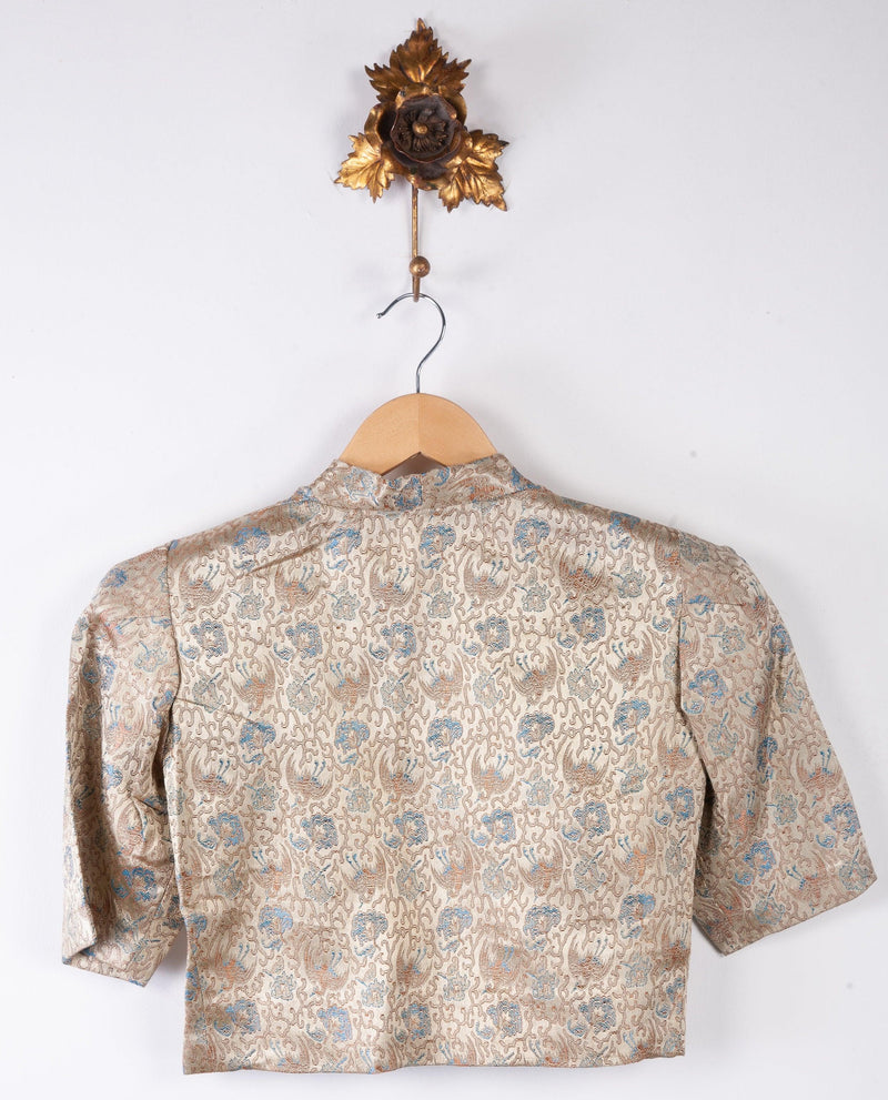 Wonderful Vintage Brocade Bolero Chinese Style Gold Tones est size S
