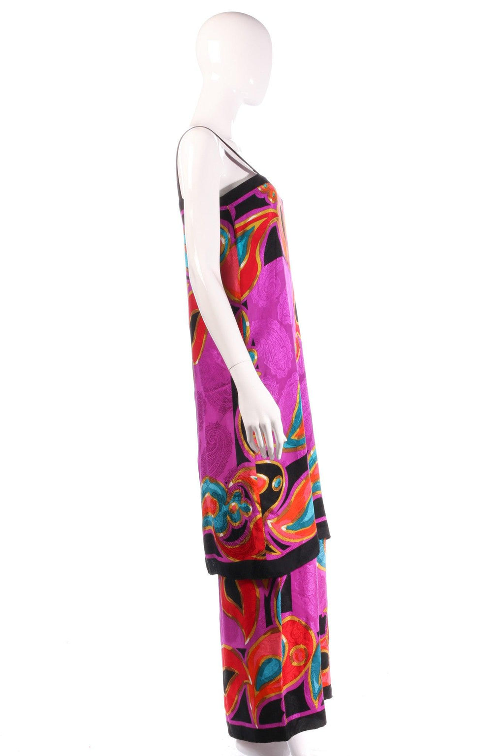 Brijo purple patterned dress, with additional top side