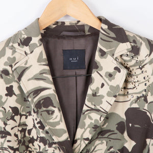 Ouiset Jacket with Applique Camouflage Pattern Size 10