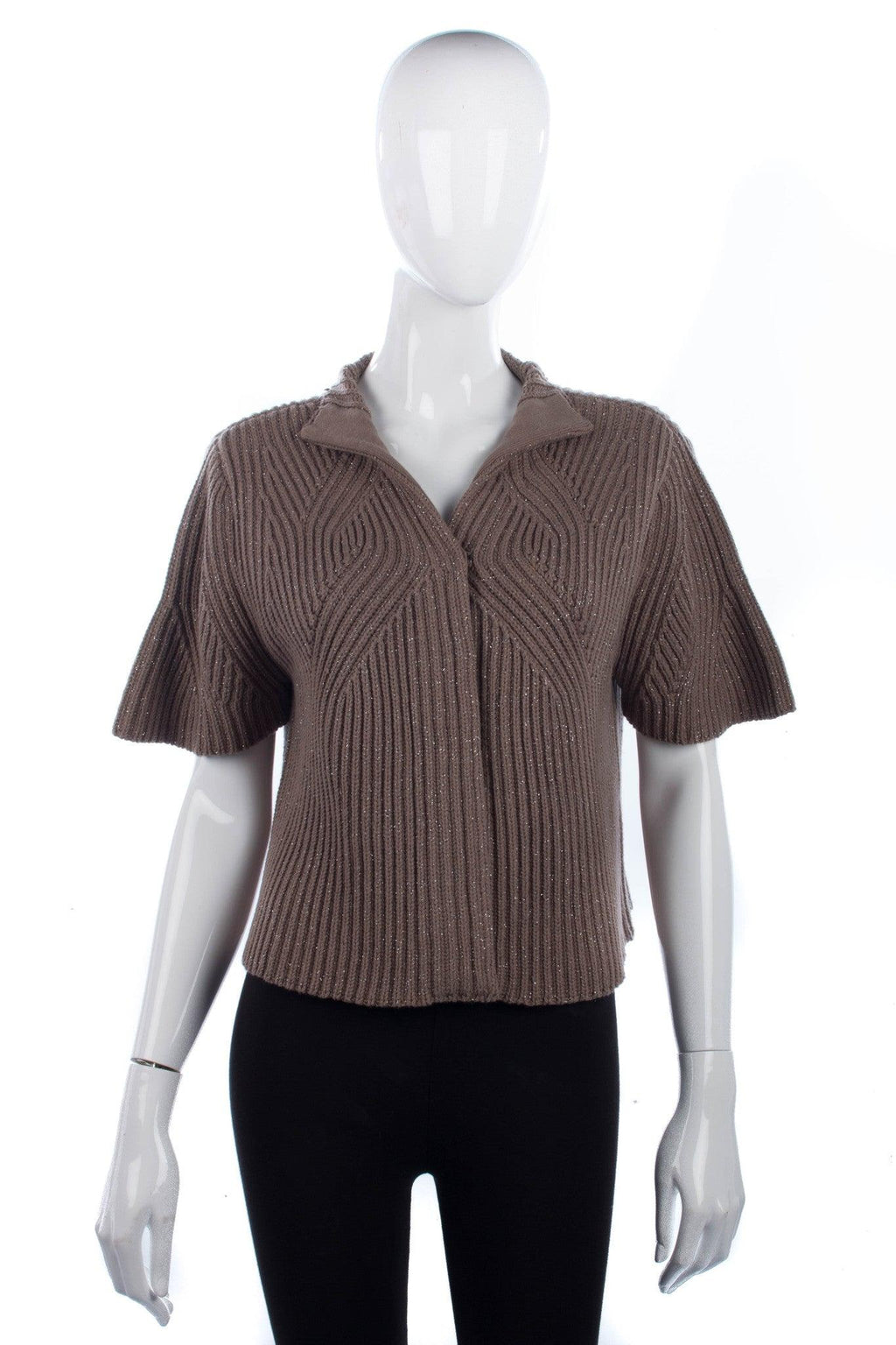 Margit brandt taupe cardigan with glitter details size 12