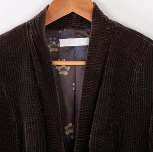 Nicole Farhi Silk Velvet Jacket Brown Size 16