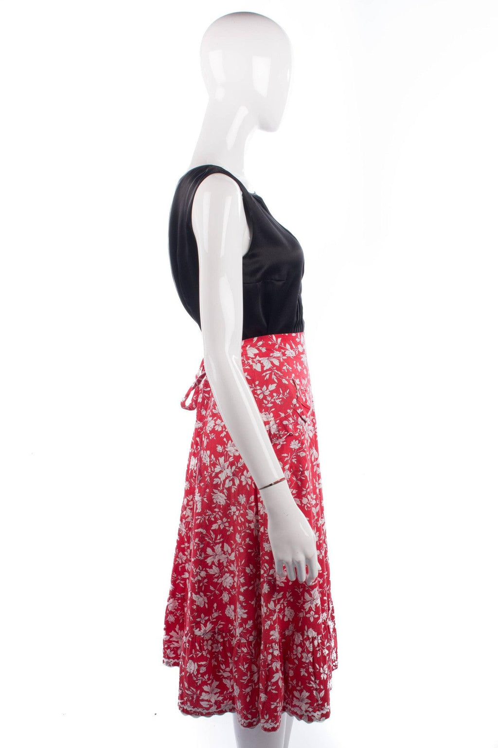 Vintage cotton summer skirt with pocket details