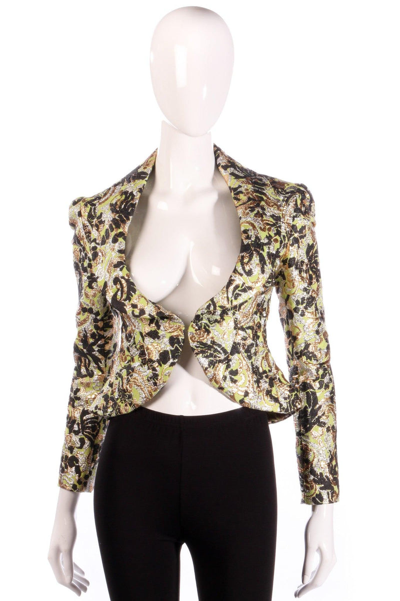 Vivienne Westwood green, black and gold floral jacket