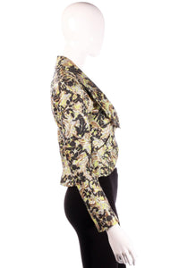 Vivienne Westwood green, black and gold floral jacket side