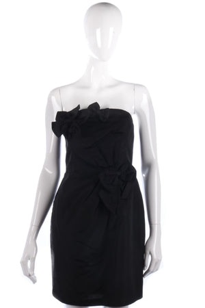 Fabulous black cocktail dress with bow details size 10
