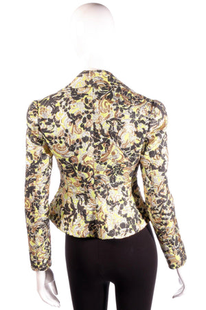 Vivienne Westwood green, black and gold floral jacket back
