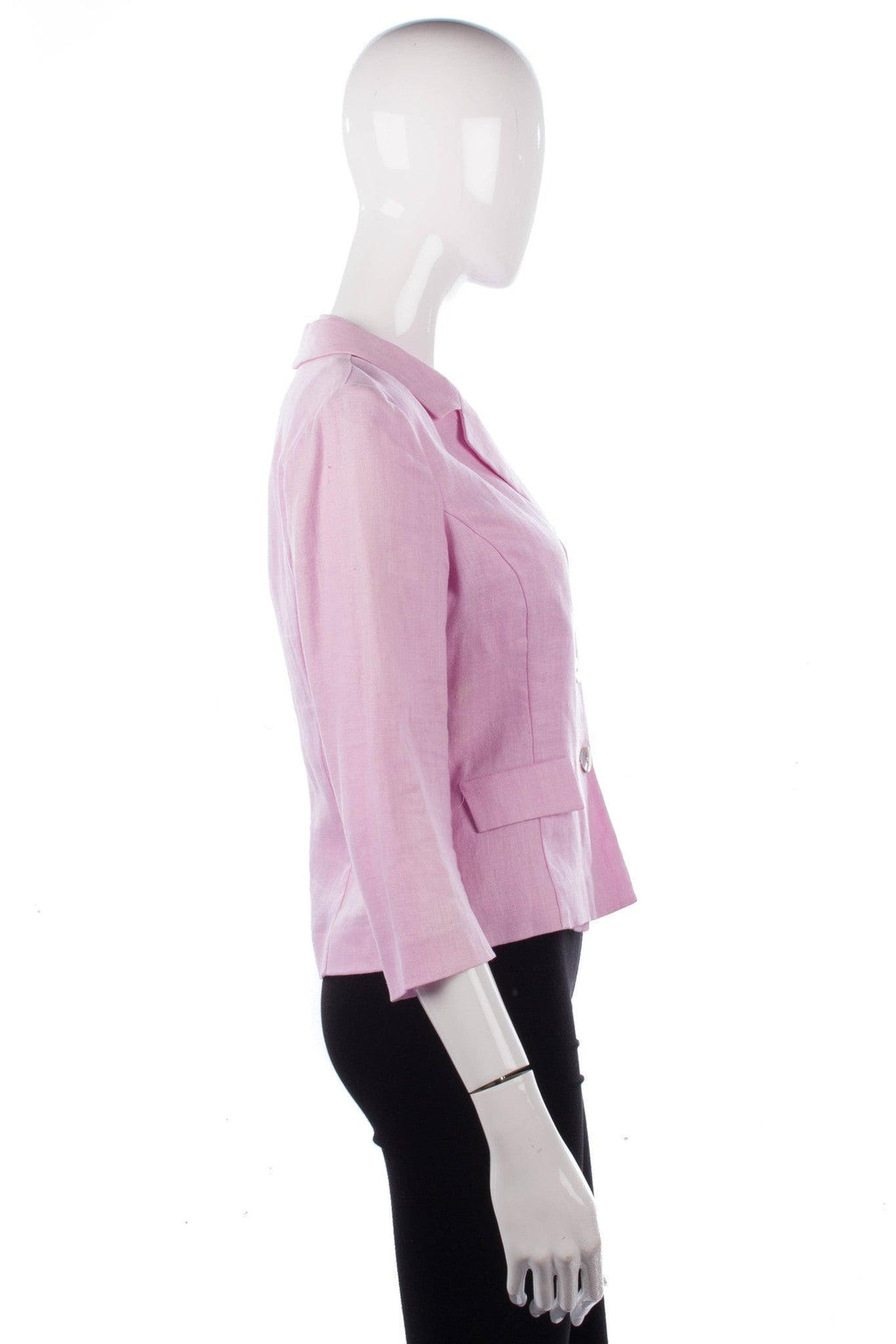 Renato Nucci Linen pink waistcoat and matching jacket size 40 side