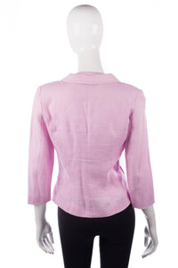 Renato Nucci Linen pink waistcoat and matching jacket size 40 back