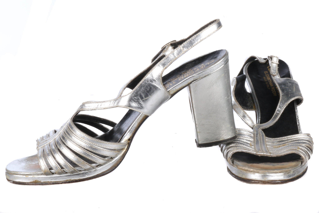 Clifford Turner Silver Shoes Size 37