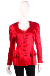Escada red jacket with peplum frills