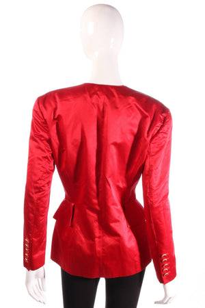 Escada red jacket with peplum frills back