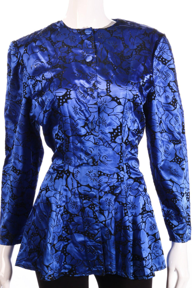 Gallery blue floral jacket detail