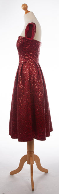 Goddiva Red Sequin Cocktail Dress UK10 BNWT