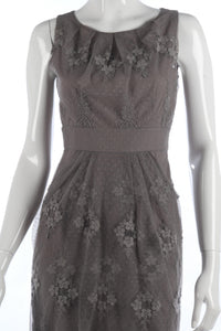 Grey lace and net cocktail dress size S