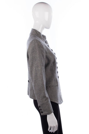 MARK houndstooth mandarin collar wool jacket side