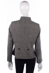 MARK houndstooth mandarin collar wool jacket back