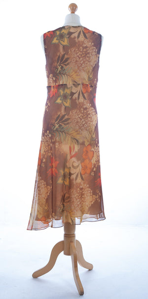 Ronit Zilkha Floral Summer Dress UK 10/12