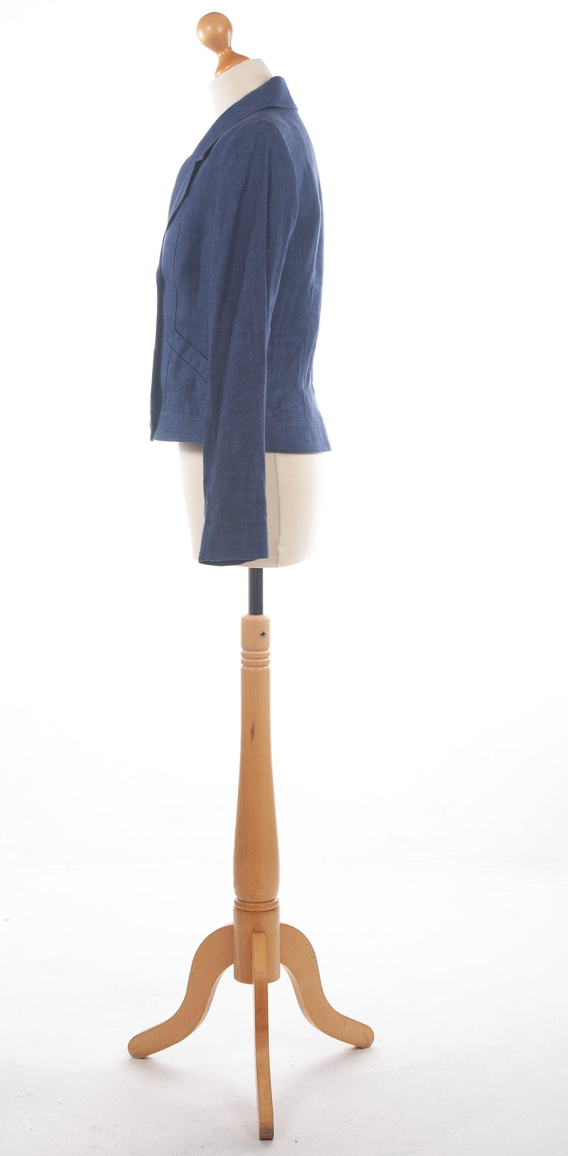 Paul Costelloe Dressage Linen Jacket Denim Blue UK 10