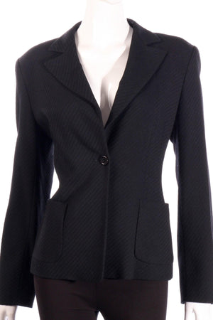 Marella black formal jacket detail