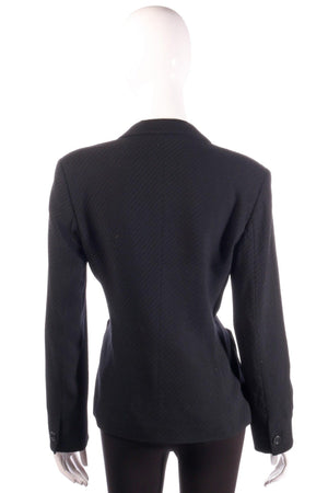 Marella black formal jacket back