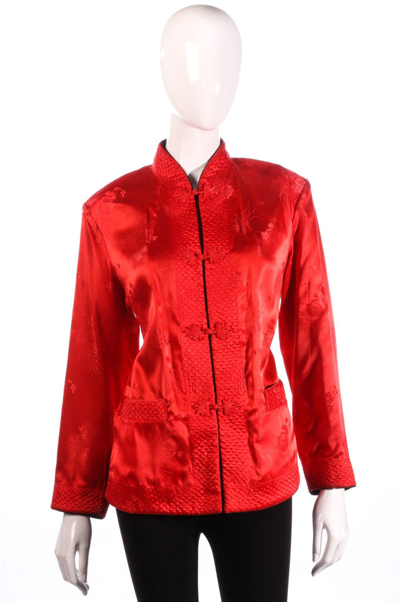 Reversible red and black silk Chinese jacket