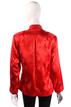 Reversible red and black silk Chinese jacket back