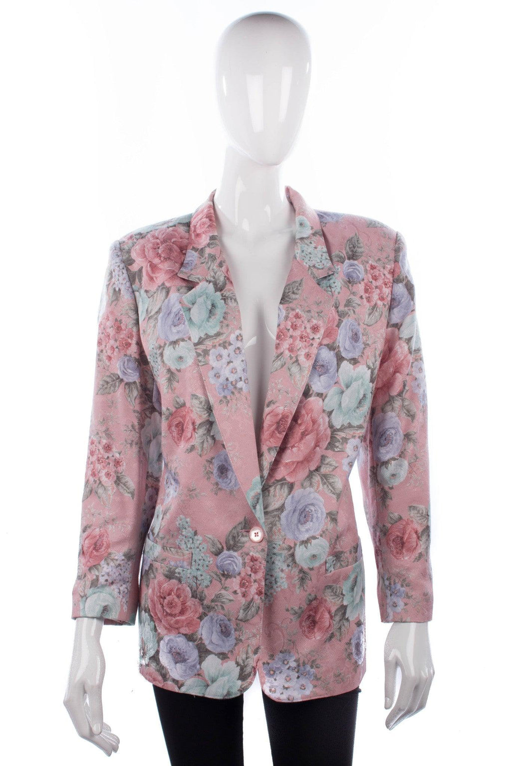 Alfred Dunner Jacket Silk and Cotton Pink Floral Size UK 18