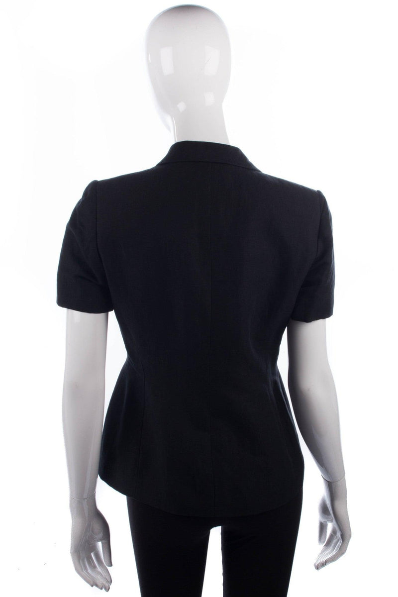 Classic black short sleeved tailored jacket size 10/12