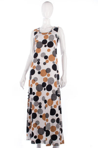 Long vintage 1970's spotted dress size 8/10