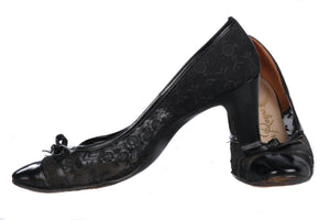 Miss Rayne vintage black lace shoes
